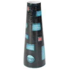 Italian Ceramics Vase Handmade, 1950s