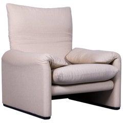Cassina Maralunga Fabric Armchair Off-White One-Seater