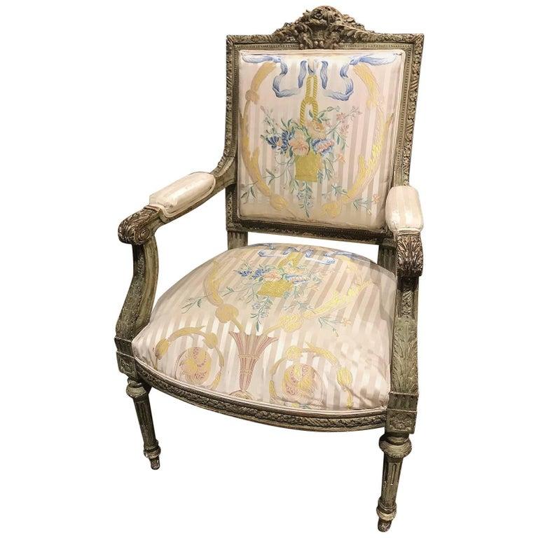 19th Century French Louis XVI Armchair