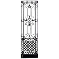 American Victorian Style '19th-20th Century' Iron Gates with Filigree Design