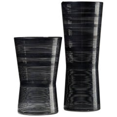 "Pair of Vases ""Zwizz"" Designed by Ingegerd Råman for Orrefors, Sweden, 2000s"