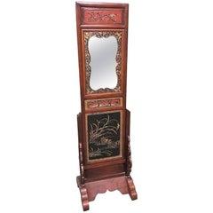 19th Century Oriental Coromandel Dressing Mirror