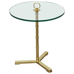 Brass Tripod Snack Table