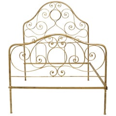 American Victorian Style Brass Queen Bed