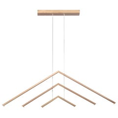 ALPINE APC60 - Brass Contemporary Geometric Modern LED Chandelier Light Fixture
