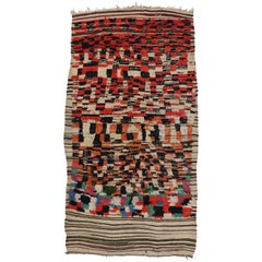 Vintage Berber Moroccan Rehamna Rug with Post-modern Tribal Style