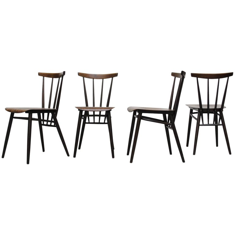 Set of Four Tapiovaara Style Dining Chairs