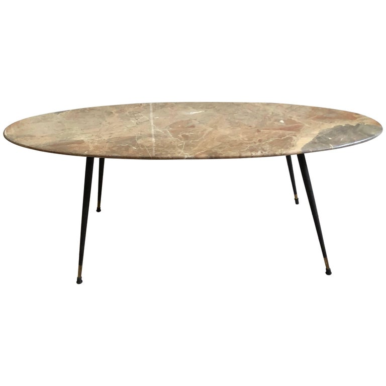 Mid-Century Modern Italian Marble Coffee Table by Elio Capitani For Sale