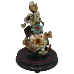 19th Century, French Dome de Marie Floral Arrangement Sculpture