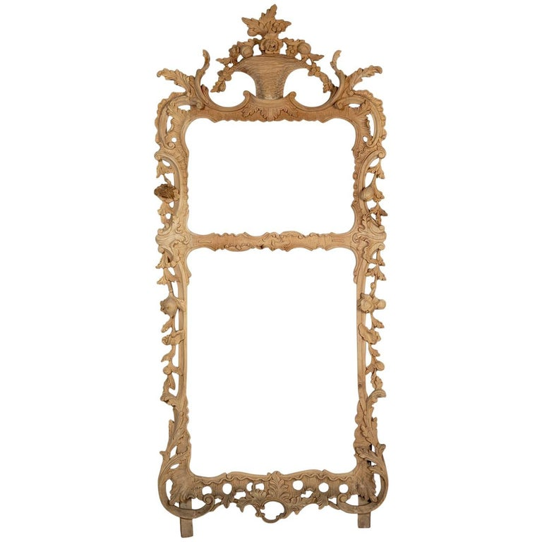 Hand Carved Pine Chippendale Style Frame For Sale