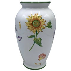 Tiffany & Co. 'Tiffany Petals' Ceramic Vase with Floral Motif, 1998