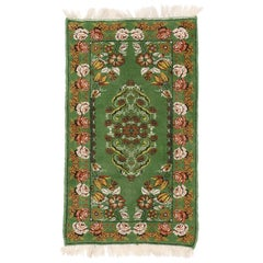 Green Vintage Moroccan Accent Rug, Foyer or Entryway Rug