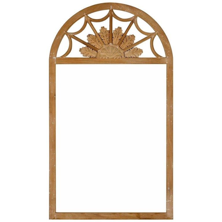 Queen Anne Style Frame Bleached Mahangony Field of Flower Crest For Sale