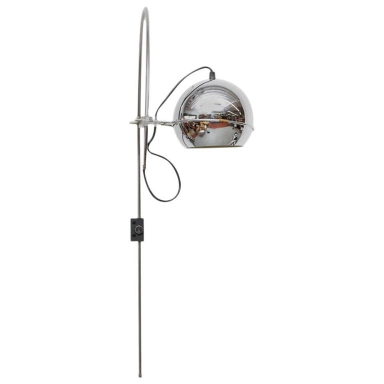 1970s Chrome Gepo Globe Lamp For Sale