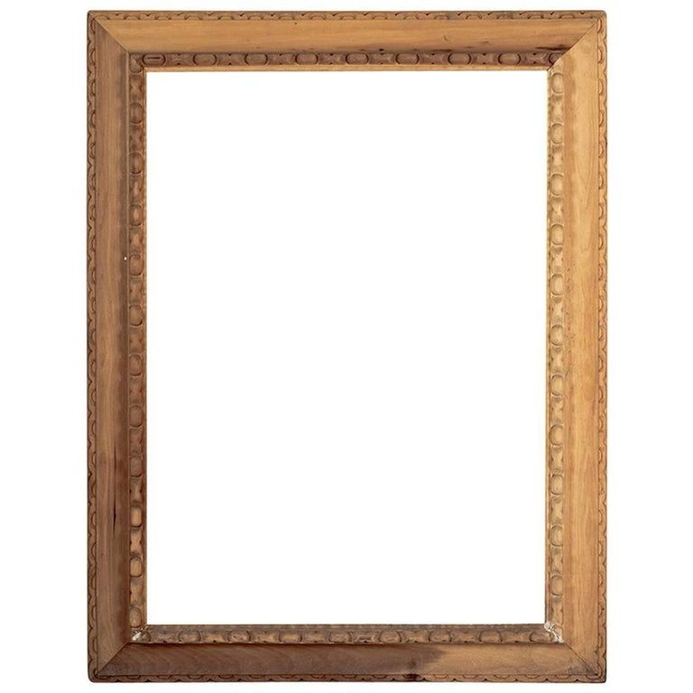Hand Carved Poplar Mirror Renaisance Style Frame For Sale
