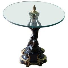 Empire Style Glass Top Gueridon