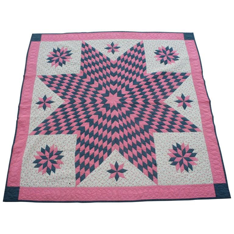 19thc Star Quilt, Eight Point Pattern
