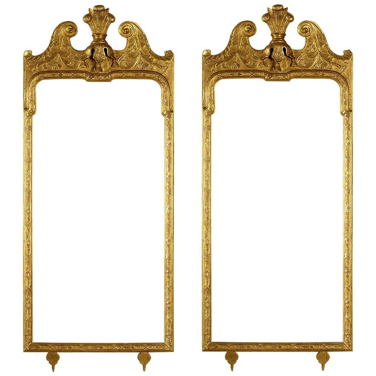 22K Gold Queen Anne Style Frames