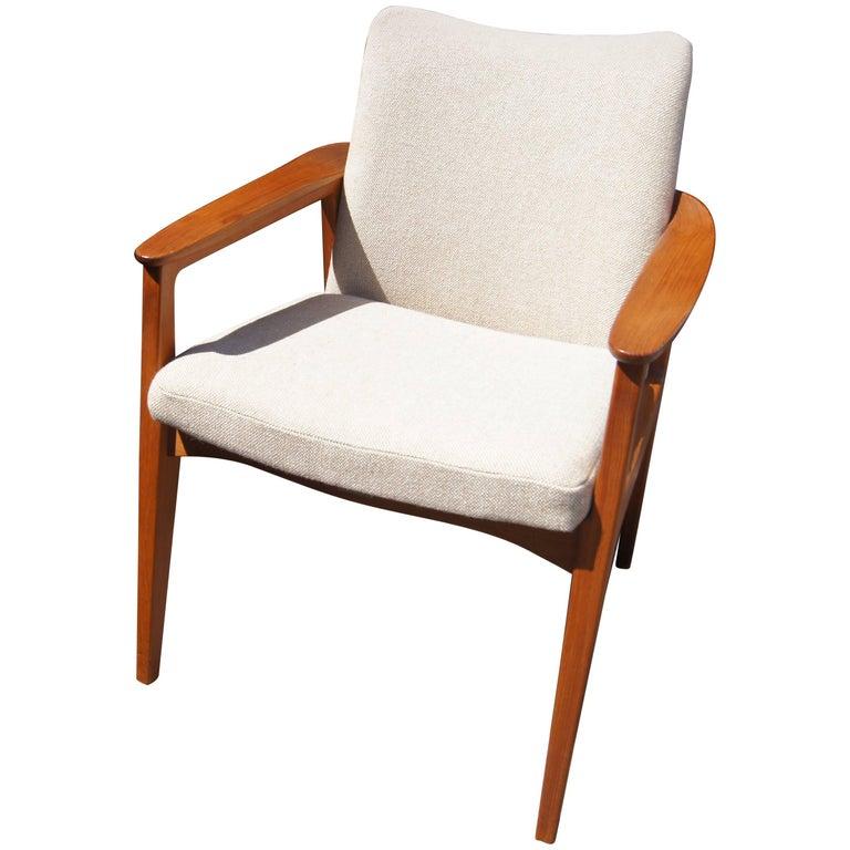 Teak Armchair by Sigvard Bernadotte for France & Son