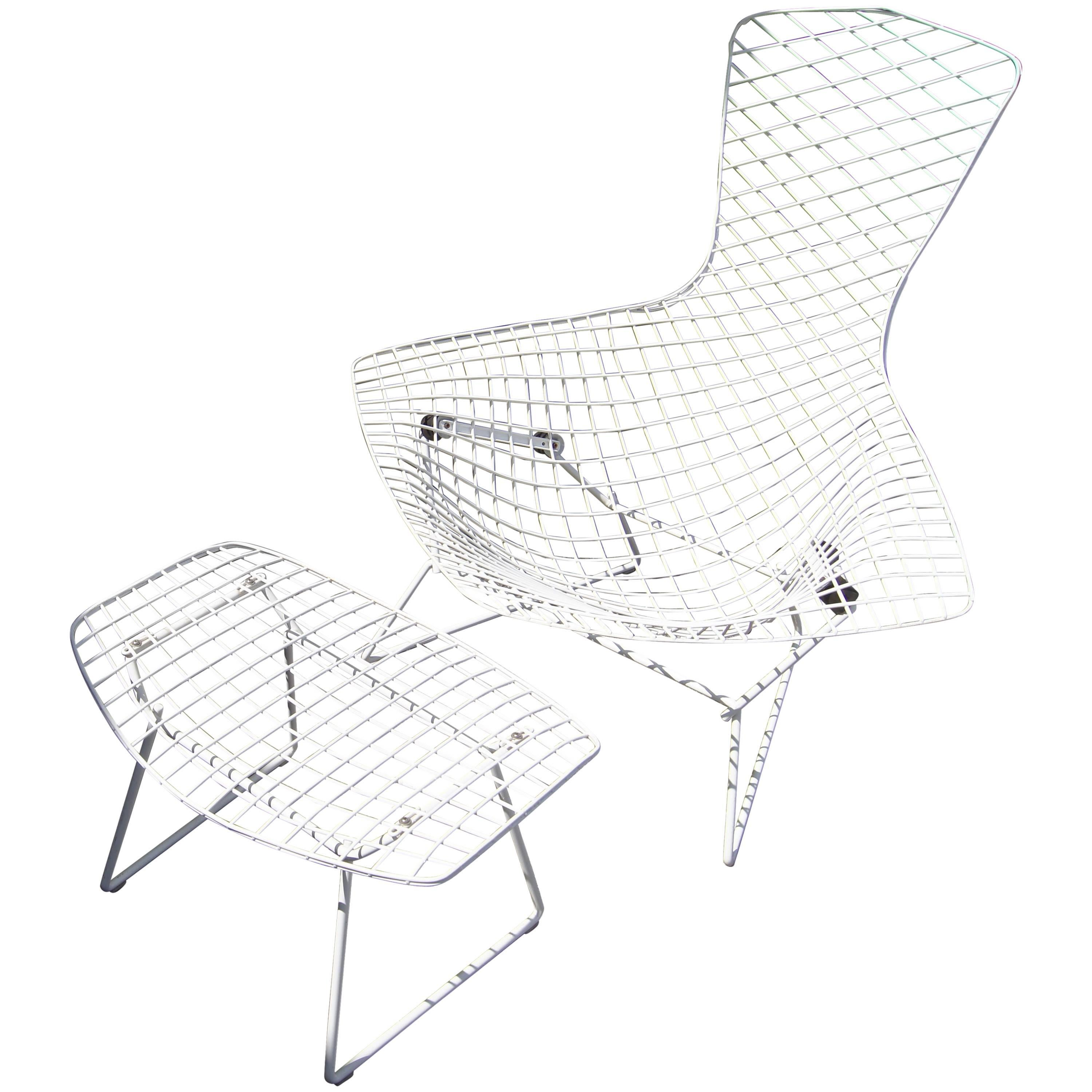 Bird Chair and Ottoman by Harry Bertoia for Knoll