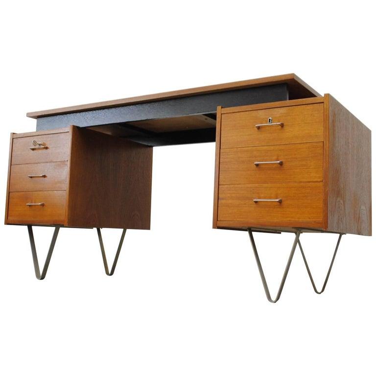 Cees Braakman Desk with Hairpin Legs