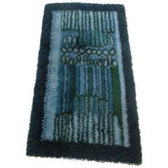 Rya Rug by Ege in Blue and Green Tones