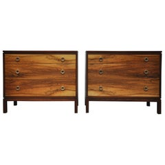 Pair of Dunbar Walnut Front Chests, Edward Wormley