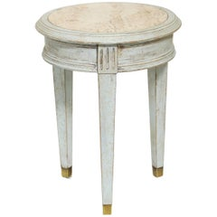 Accent Table with Travertine Insert
