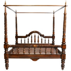 British Colonial Teak Wood Bed