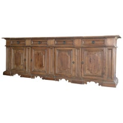 Four-Door Tuscan Walnut Credenza