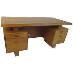 Teak Double Pedestal Desk