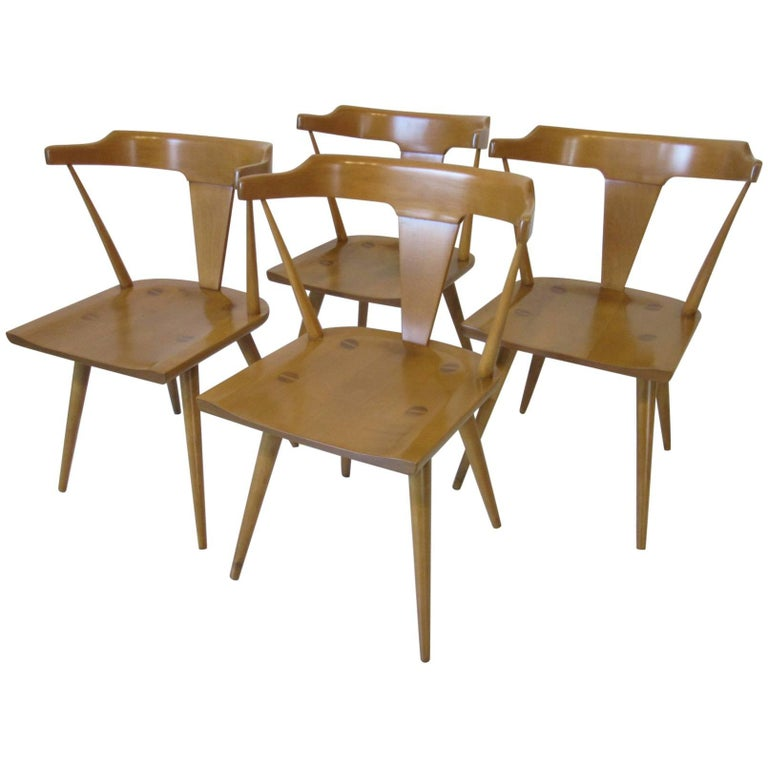 Paul McCobb Maple Planner Group Dining Armchairs For Sale At 1stdibs