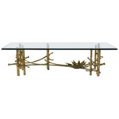 Silas Seandel Attributed Lotus Coffee Table