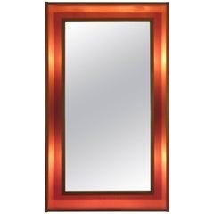 Pedersen and Hansen Teak Back lit Mirror