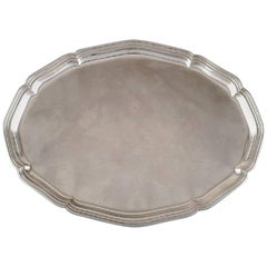 Danish Silver, Large Tray, 1930s-1940s