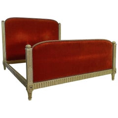 French Bed US Queen UK King Size Art Deco Louis XVI Revival, circa 1920