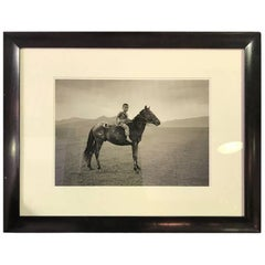 "Richard Gere Limited Edition Silver Gelatin Print ""Mongolian Warrior, Mongolia"""
