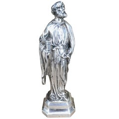 19th Century German Silver Ecclesiastical Figure of Sankt Peter