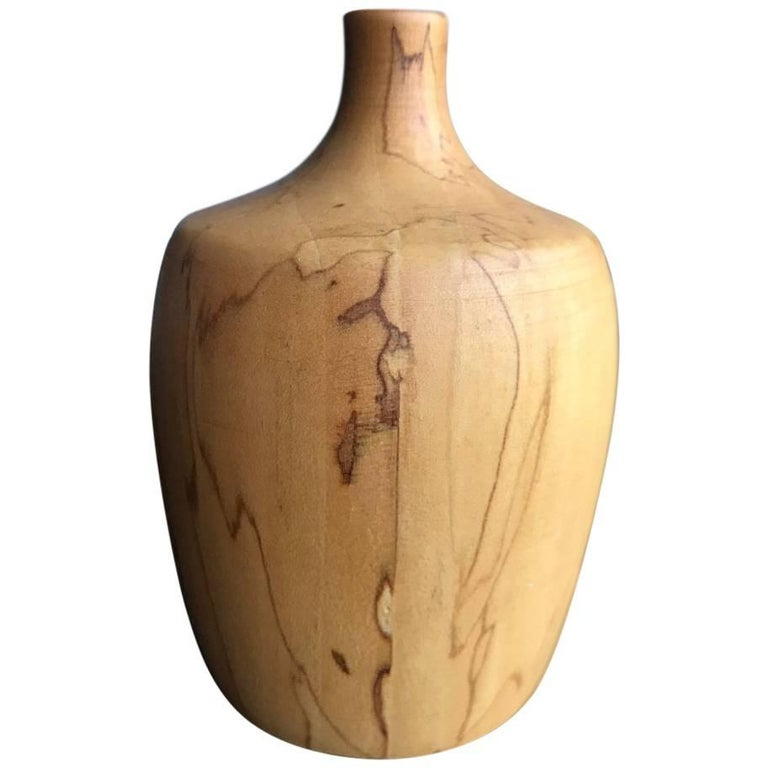 Rude Osolnik Rare Pale, Gum Wood Turned Vessel / Vase