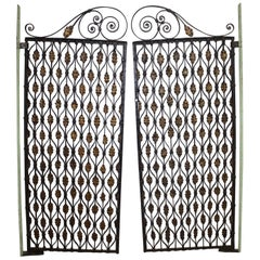 Gorgeous Pair of 18th Century French Iron Gates