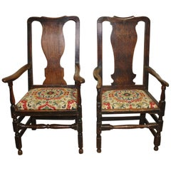 Magnificent Pair of 17th Century Armchairs