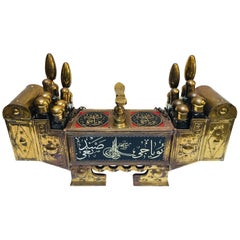 Turkish Brass Valet Shoe Shine Decorative Stand Valet