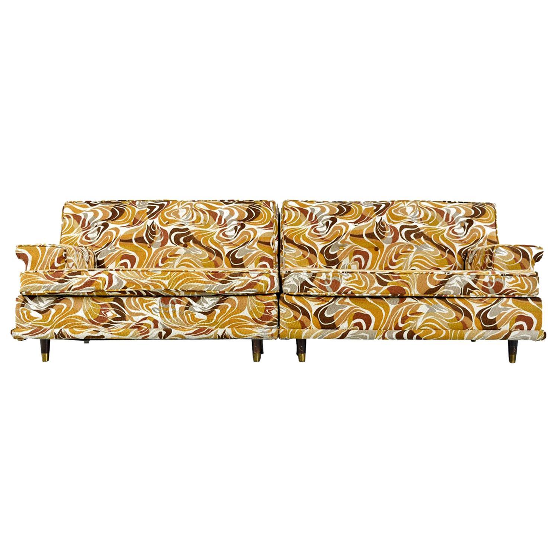modular settee sofa set original psychedelic abstract print tribal rh 1stdibs com