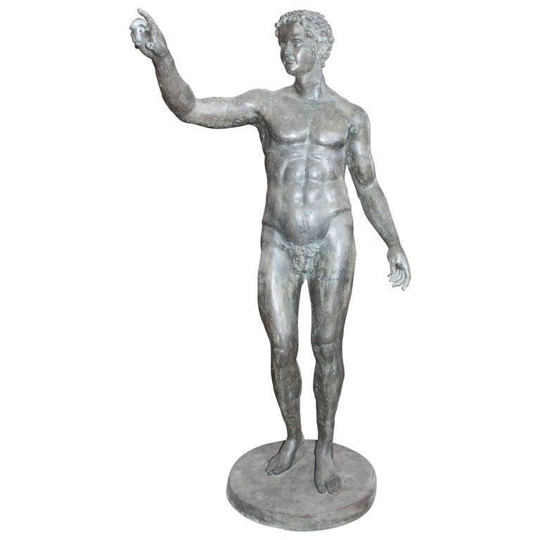 Lifesize Bronze Cast Sculpture of Greek Athlete