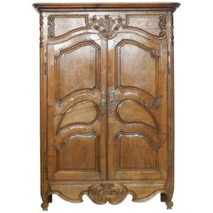 French Armoire Late 18th Century Louis Wardrobe