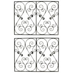 Pair of 19th Century Wrought Iron Panels or Railings