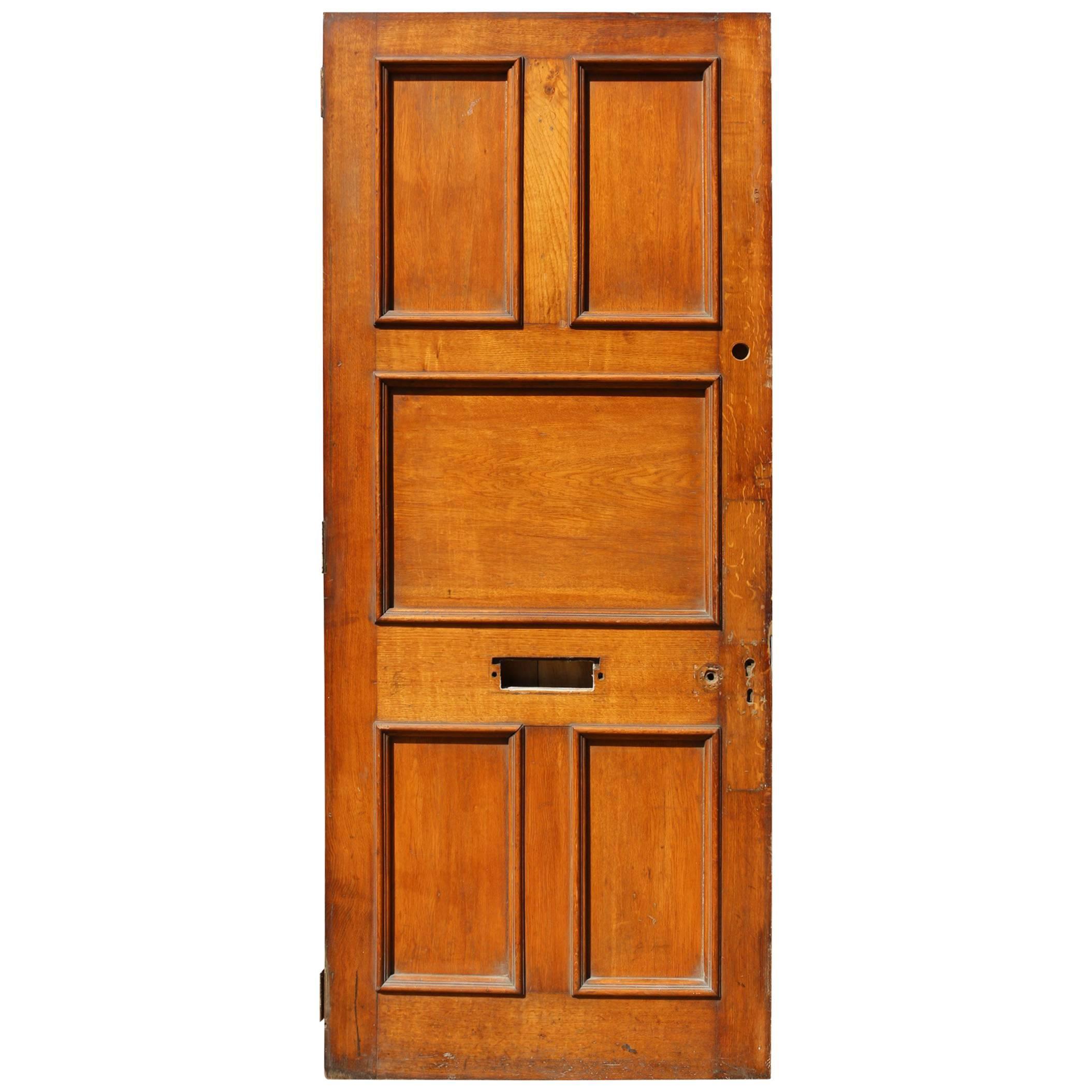 Antique Oak Exterior or Front Door
