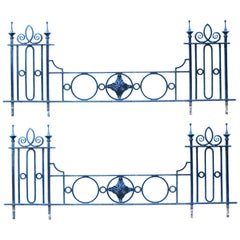 Set of Four 19th Century Wrought Iron Railings