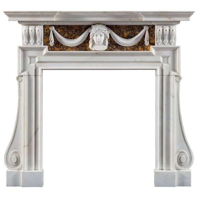 Good 18th Century Palladian Fireplace after a Design by Inigo Jones