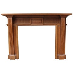 Late 19th Century Carved Oak Fire Surround